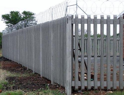 14. Concrete Pallisade fence with 500mm Flat wrap